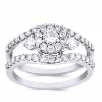 WS46496W | Halo Engagement Ring | Payroll Jewelry