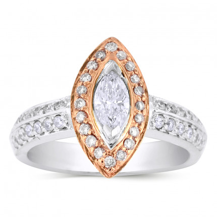 WS46562PW | Halo Engagement Ring | Payroll Jewelry