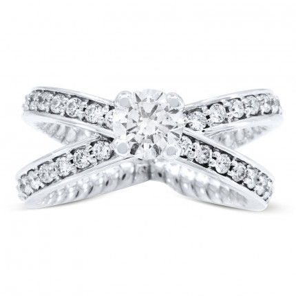 WS48677W | Side Stone Engagement Ring | Payroll Jewelry