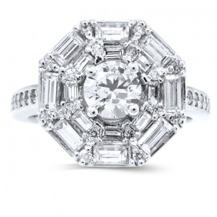 WS501578W | Halo Ladies Engagement Ring | Payroll Jewelry