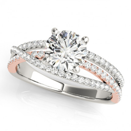 WS50862W | Side Stone Engagement Ring. | Payroll Jewelry