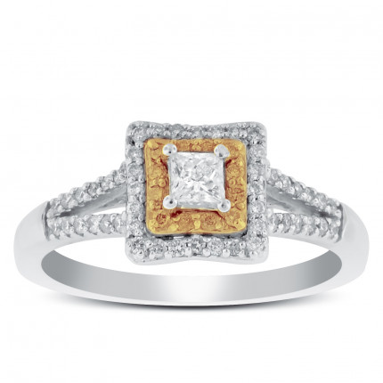 WS56217W | Halo Ladies Engagement Ring | Payroll Jewelry
