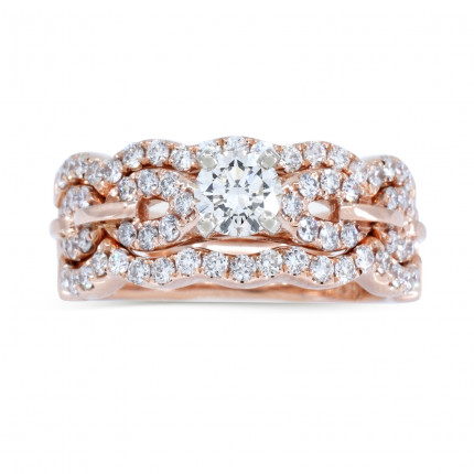 WS67963P | Side Stone Wedding Set | Payroll Jewelry