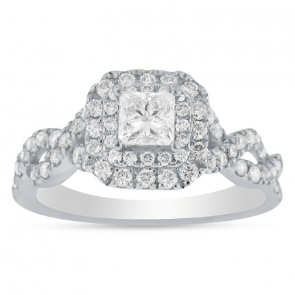 WS68606W | Halo Engagement Ring | Payroll Jewelry