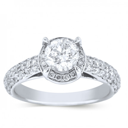 WS72997W | Halo Engagement Ring | Payroll Jewelry