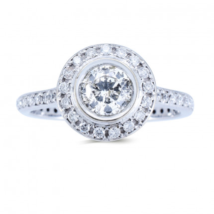 WS737W | Halo Rings | Payroll Jewelry