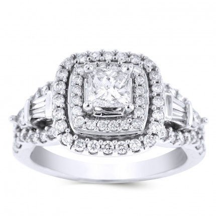 WS78660W | Halo Engagement Ring | Payroll Jewelry