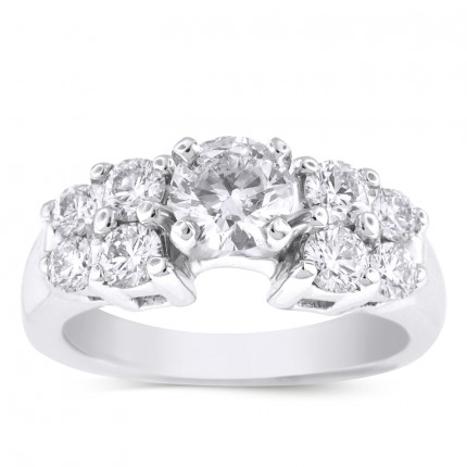 WS81266W | Side Stone Engagement Ring | Payroll Jewelry