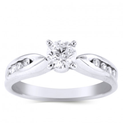WS8599W | Side Stone Engagement Ring | Payroll Jewelry