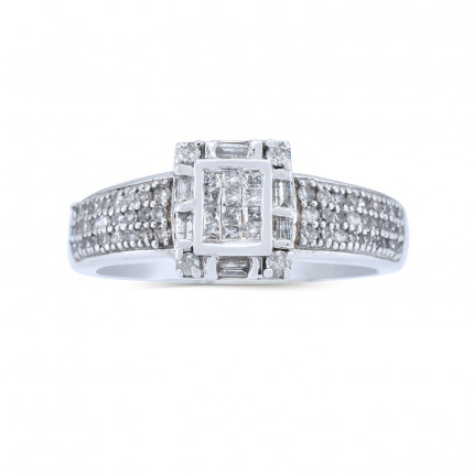 WSF44170W | Halo Rings | Payroll Jewelry
