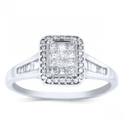 WSF48255W | Halo Ladies Engagement Ring | Payroll Jewelry