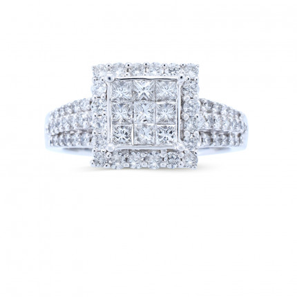 WSF48493W | Halo Rings | Payroll Jewelry