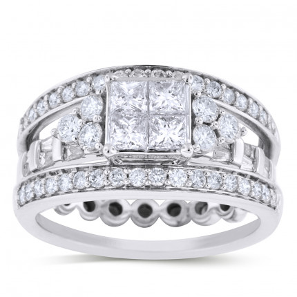 WSF62661W | Wedding Set Engagement Ring | Payroll Jewelry