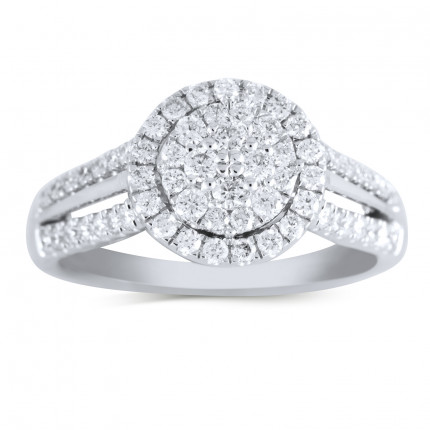 WSF66481W | Halo Ladies Engagement Ring | Payroll Jewelry