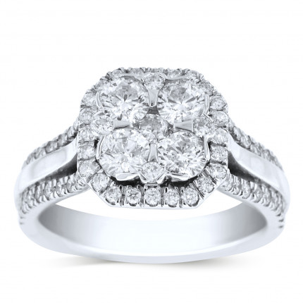 WSF69794W | Halo Ladies Engagement Ring | Payroll Jewelry