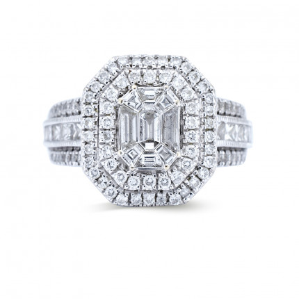WSF922W | Halo Rings | Payroll Jewelry