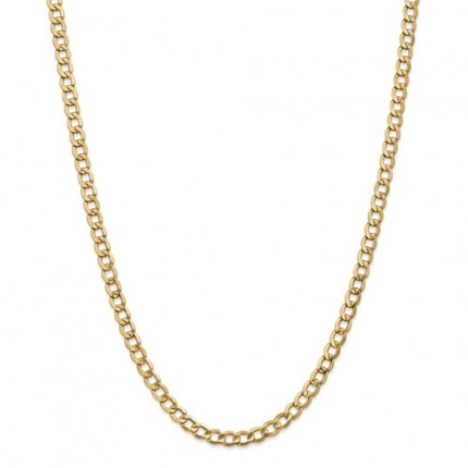 5.25mm Curb Chain | 14K Yellow Gold | 22 Inch