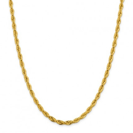 3mm Rope Chain | 14K Yellow Gold | 22 Inch