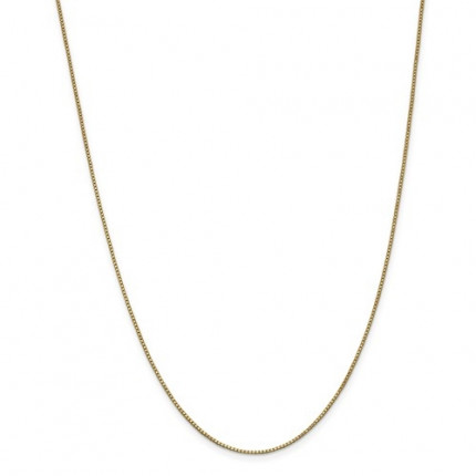 1.1mm Box Chain | 14K Yellow Gold | 18 Inch