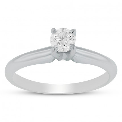 BR1201W   Solitaire Engagement Ring   Payroll Jewelry