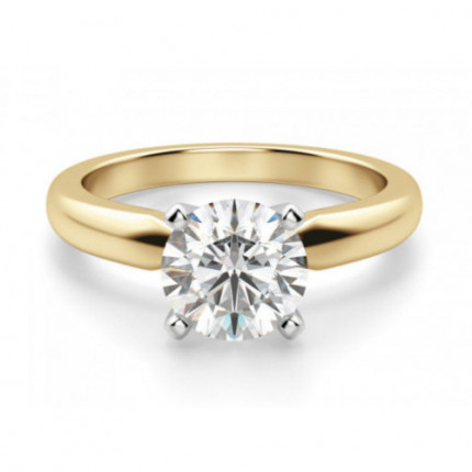 BR450Y | Yellow Gold Solitaire Engagement Ring | Payroll Jewelry
