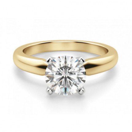 BR433Y | Yellow Gold Solitaire Engagement Ring | Payroll Jewelry