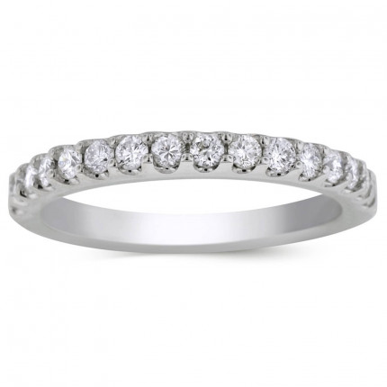 BR4526W | White Gold Band. | Payroll Jewelry