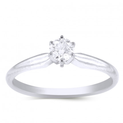 BR633W | Solitaire Engagement Ring | Payroll Jewelry