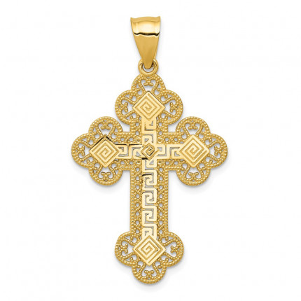 C1924 | Gold Cross Pendant | Payroll Jewelry