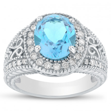 C4634-9X7B | Gemstone Ladies Ring | Payroll Jewelry