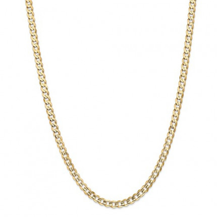 7mm Curb Chain   10K Yellow Gold   26 inch