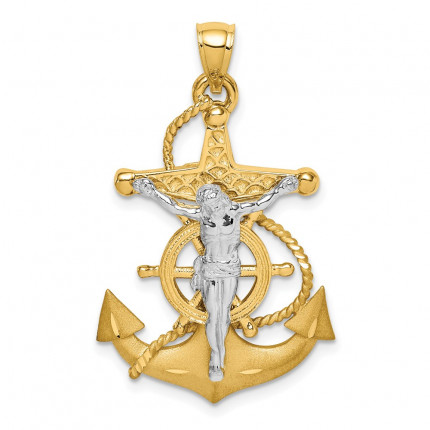 D4668 | Gold Mariner Cross Pendant | Payroll Jewelry