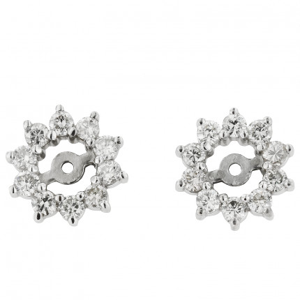 EJ-02 | White Gold Diamond Ear Studs | Payroll Jewelry