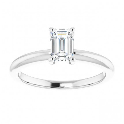 EM450W | Solitaire Engagement Ring | Payroll Jewelry