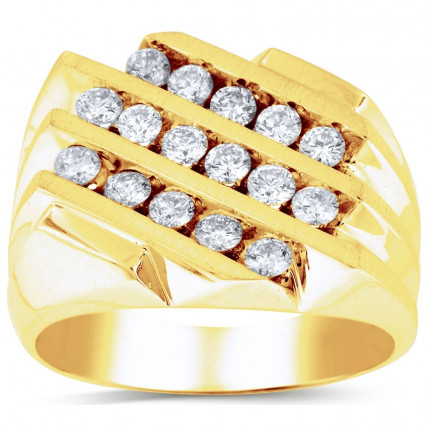 GR16616Y | Yellow Gold Mens Ring. | Payroll Jewelry