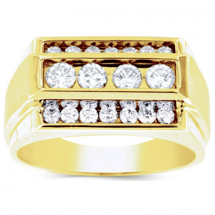 GR18619Y | Yellow Gold Mens Ring. | Payroll Jewelry