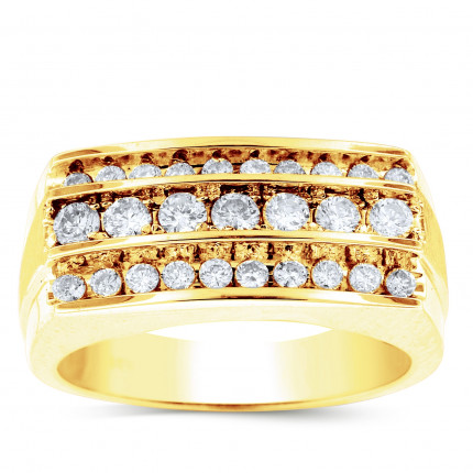 GR27604Y | Yellow Gold Mens Ring. | Payroll Jewelry