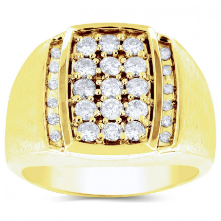 GR27608Y | Yellow Gold Mens Ring. | Payroll Jewelry