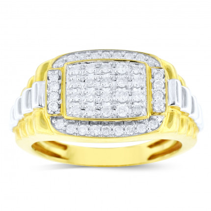 GR50222TT | Yellow Gold Mens Ring | Payroll Jewelry