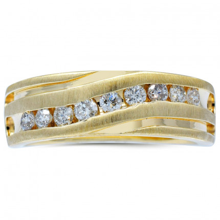 GR9273Y | Yellow Gold Mens Ring | Payroll Jewelry