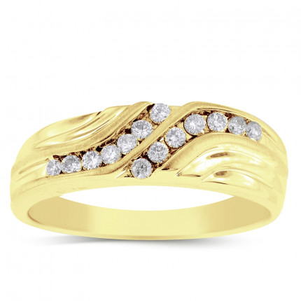 GWB0896CY | Yellow Gold Mens Ring. | Payroll Jewelry