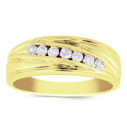 GWB0944MY | Yellow Gold Mens Ring. | Payroll Jewelry