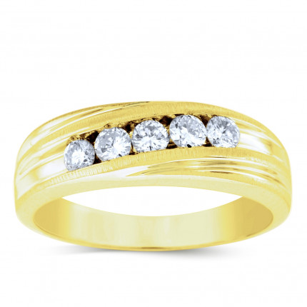 GWB0986CY | Yellow Gold Mens Ring. | Payroll Jewelry