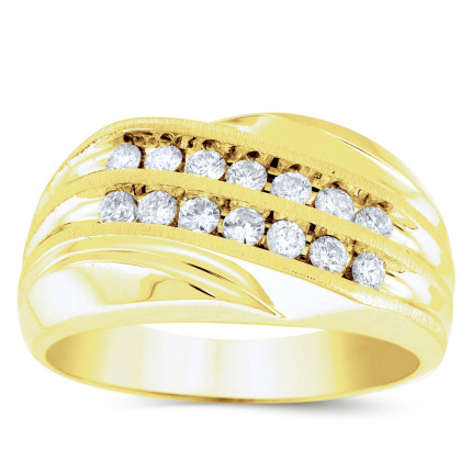 GWB14386Y | Yellow Gold Mens Ring. | Payroll Jewelry