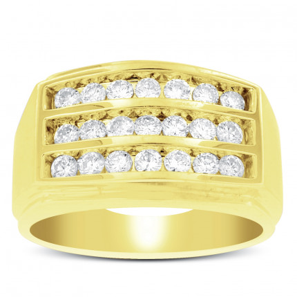 GWB21577Y | Yellow Gold Mens Ring. | Payroll Jewelry