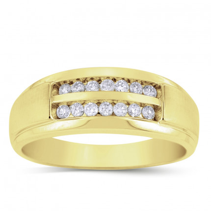 GWB2350MY | Yellow Gold Mens Ring. | Payroll Jewelry