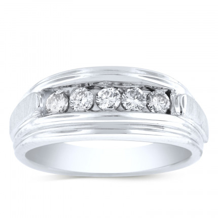 GWB2553BW | White Gold Mens Ring. | Payroll Jewelry