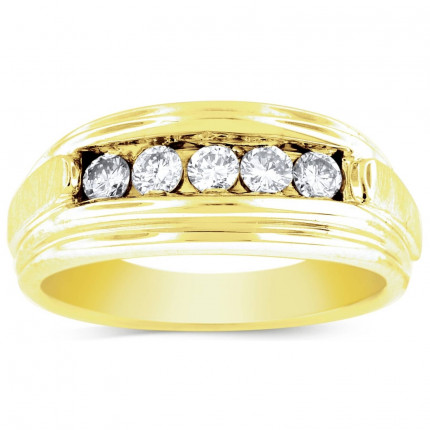 GWB2553BY | Yellow Gold Mens Ring. | Payroll Jewelry