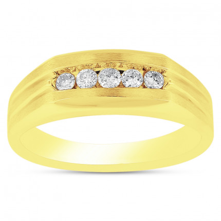 GWB58455Y | Yellow Gold Mens Ring. | Payroll Jewelry