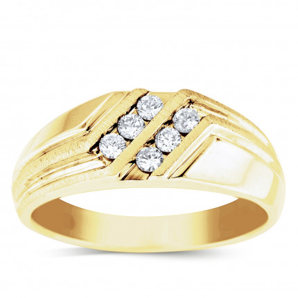GWB6292Y | Yellow Gold Mens Ring. | Payroll Jewelry
